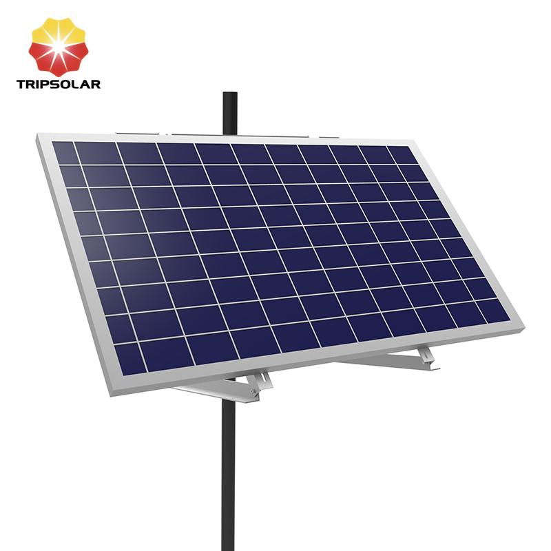 Tripsolar Adjustable Single Solar Panel Pole Mounting Brackets