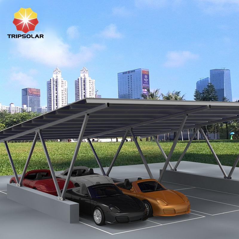 Tripsolar Double Aluminum Solar Carport Mounting