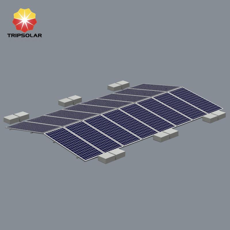 Tripsolar OEM East-West Flat Roof Solar Mounting