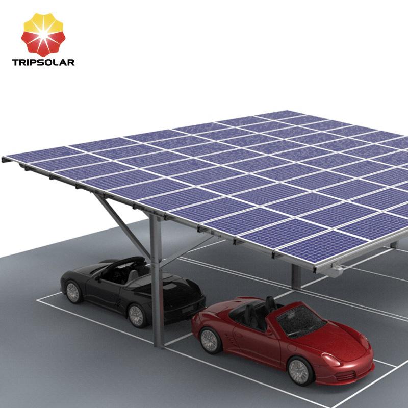 Tripsolar Steel Double Solar Carport Mounting
