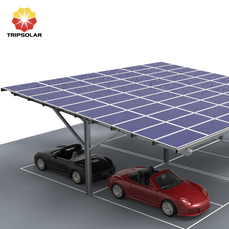 Tripsolar Steel Double Solar Carport Mounting