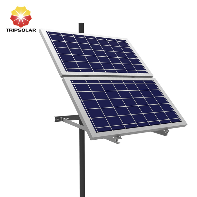 Tripsolar Two solar Panels Pole Mounting Brackets