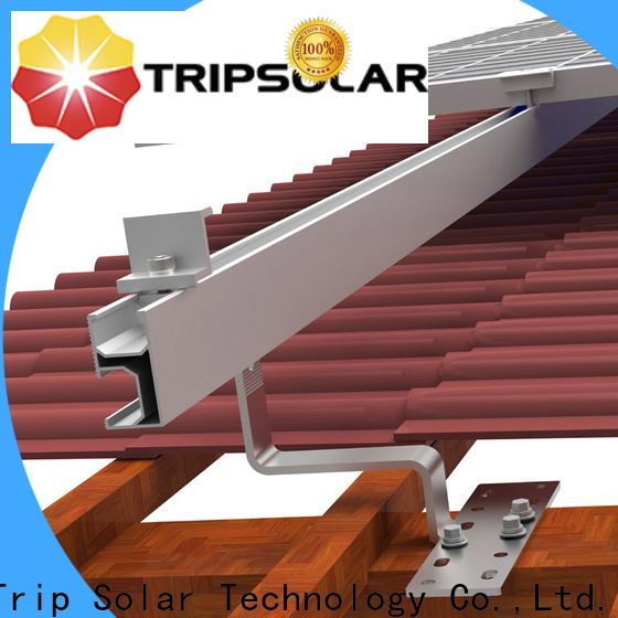 Top solar panel flat roof mounting system company