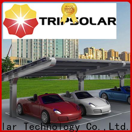 Custom residential solar carport for business