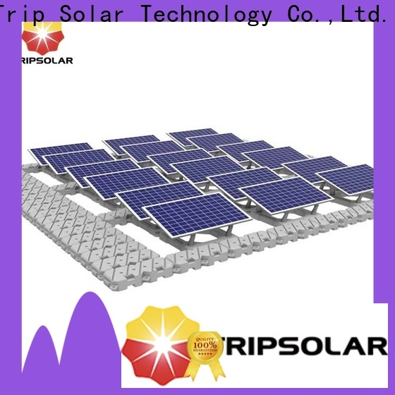 Custom floating solar structure for business