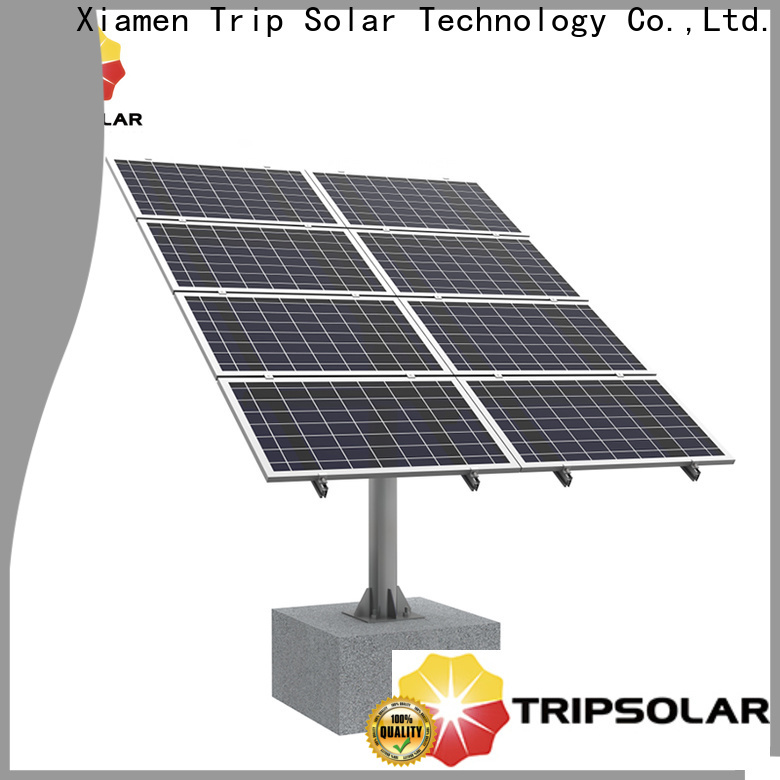 Top ground mount for solar factory