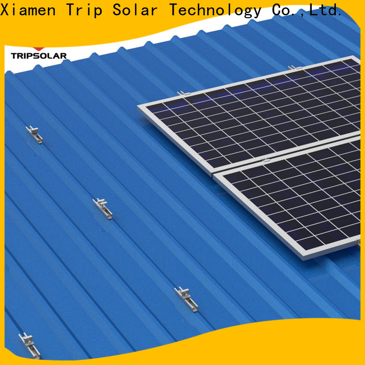 TripSolar solar panel mounting brackets for metal roof Supply