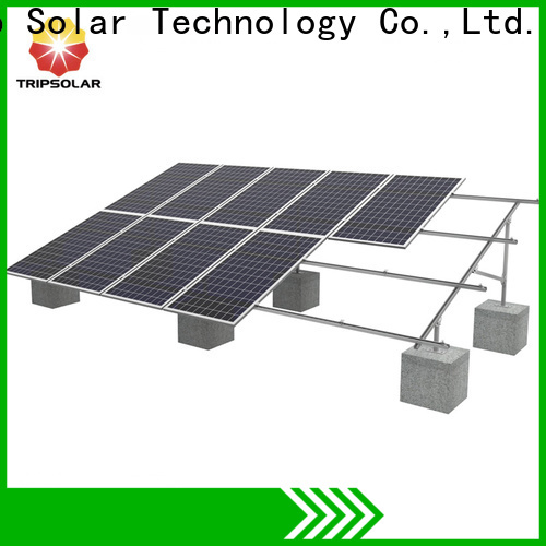 TripSolar solar panels on ground for business