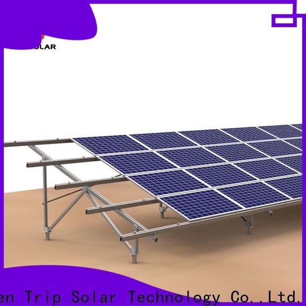 TripSolar Custom ground mount solar frame company